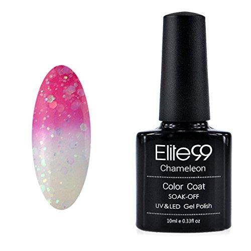 Elite99 Vernis A ongles Température/Soleil Change Caméléon Thermique UV Gel Nail Polish 9037