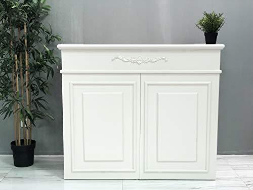 Mesa de Oficina Mostradores para Tiendas o Recepción Mueble Blanco Hueso Amplio
