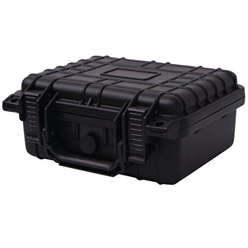 Festnight Universalkoffer mit 3 Schaumstoff Schutzkoffer Transportkoffer Koffer aus Polypropylen + ABS 27x24,6x12,4cm - Schwarz