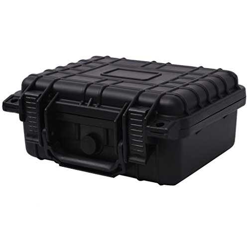 Festnight Black Hard Tool Box Cases 27 x 24.6 x 12.4 cm
