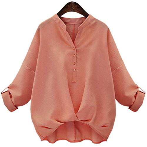 [セカンドルーツ] スキッパー ドレープ ブラウス シャツ OL ゆったり きれいめ カジュアル カットソー 上の服 ウエストマーク風 着心地のいい 服 快適 気持ちいい 素材 腰回り カバー ミセス マダム お嬢様 ヤング シニア 優雅な イメージ ピンク ぴんく ぴんく色 ピンク色 ピンクカラー 桃色 ももいろ もも色 カラー 色 M Mサイズ タック入り Vネック 風 1S-R02-PKM