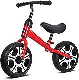 12 Equilibrio Bicicleta de Acero al Carbono Marco Sin Pedal Caminar Equilibrio Bicicleta de Entrenamiento para Niños y Niños de 2 a 6 años