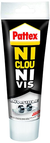 "Pattex Tube de Colle""Ni clou ni vis"" Invisible - 200 g - Transparent"