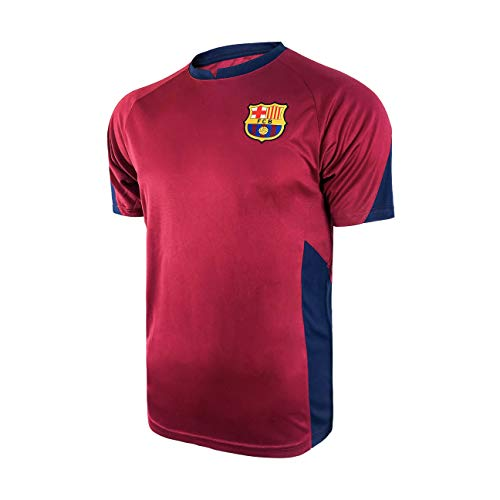 Icon Sports Mens Striker Short Sleeve Game Polyshirt UEFA Champions League Soccer Barcelona, Alternate, Medium