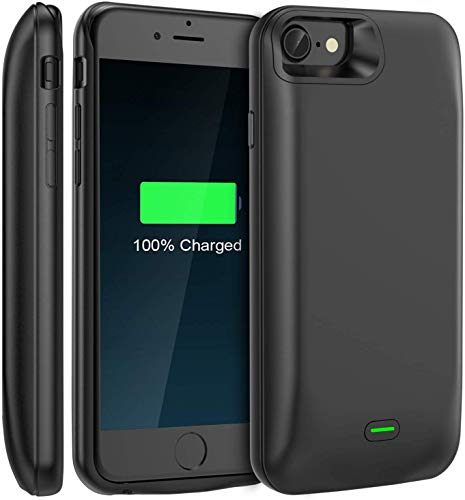 LoHi Battery Case, Available for 4.7'' iPhone 6/6s/7/8 5000mAh Ultra Slim Extended Battery Rechargeable Protective Portable Charger Support Headphones (Black)