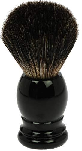 Fantasia Blaireau de rasage en poils de blaireau avec manche en plastique Noir Hauteur 9,5 cm 115 g
