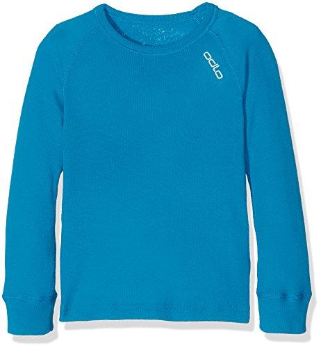 Odlo Kinder Shirt l/s Crew Neck Warm Kids Unterhemden Lg.arm Ki, Blue Jewel, 128