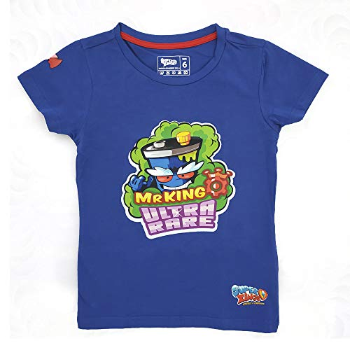 SuperZings Camiseta, Mr King azul, 4 para Niños