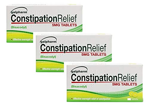 60 Tablets Galpharm Constipation Relief | Overnight Relief from Constipation | 5mg Bisacodyl