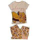 Disney Rey león Simba soñoliento de Las Mujeres con puño Conjunto de Pijama:...
