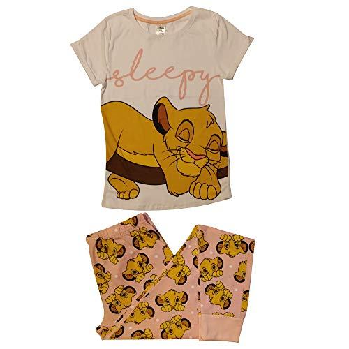 Disney Rey león Simba soñoliento de Las Mujeres con puño Conjunto de Pijama: Pequeño (8-10)