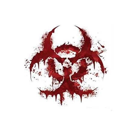 Greestick Aufkleber Biohazard Rot Blut Zombie Apokalypse Sticker Auto Laptop Pc 11x11cm Auto
