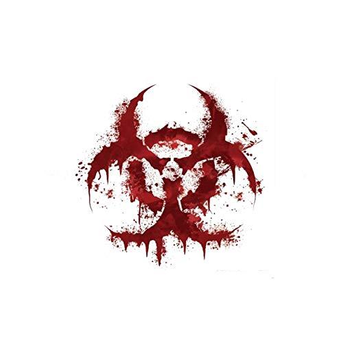 greestick Aufkleber Biohazard rot Blut Zombie Apokalypse Sticker Auto Laptop PC 11x11cm