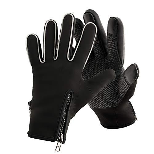CYCLEHERO Wasserdichte Fahrrad Handschuhe (Größe XXL) Winddichte Handschuhe mit Reflektor-Elementen und praktischem Reißverschluss - Unisex Fahrradhandschuhe für Herren, Damen und Kinder