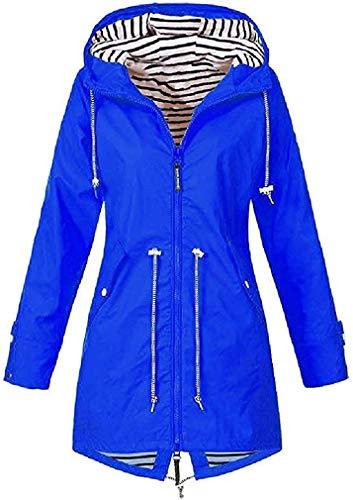 Womens waterdichte hooded regencoat lichtgewicht hiking trench coats