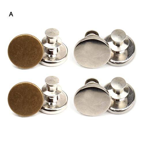 Viesky 8Stks/Tas Metalen Jeans Knop Broek Broek Verhoog Verminder Taille Knopen DIY Kit A