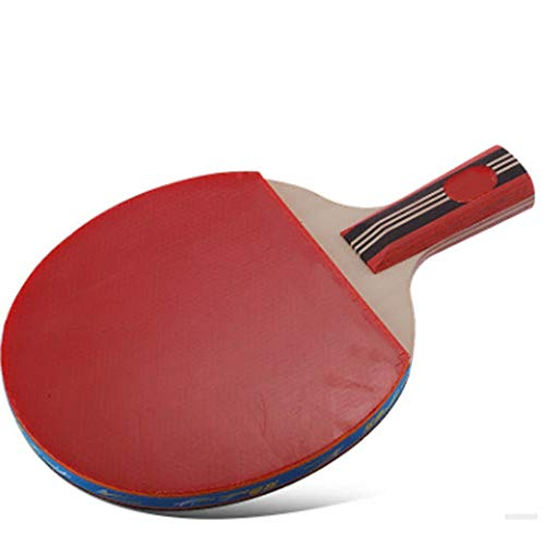 KPOON Pádel de Mesa Disparo Tabla Raqueta de Tenis Individual 4A Ping-Pong Shot Ping Raqueta de Competencia Horizontal Formación Hijos Adultos 15x25cm Shot Paleta de Ping Pong dúplex
