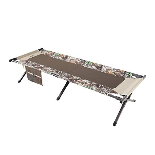 """Timber Ridge Heavy Duty 300 lbs. Weight Capacity TR Cedar Deluxe Camo Heavy Duty Folding Cot with Carry Bag, 74.4""""l x 25.6""""w x 16.1""""h"""