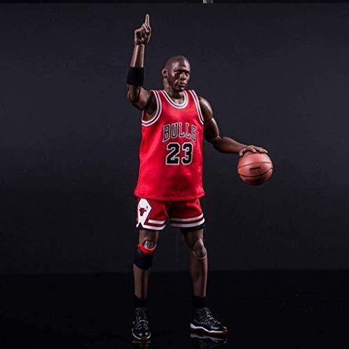 HOOPOO Figura de acción de 22 cm de la Serie NBA 23 Michael Jordan Chicago Bulls edición Limitada de colección: Figuras de la NBA