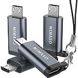 NIMASO Adaptador USB C a Micro USB 4 Pack,USB Tipo C (Hembra) a Micro (Macho) Conversor Soporte Carga & Sync Connector para Galaxy S7/S7 Edge/S6/J7/J3,Huawei P Smart/P8 Lite/P9 Lite/P10 Lite,LG G4