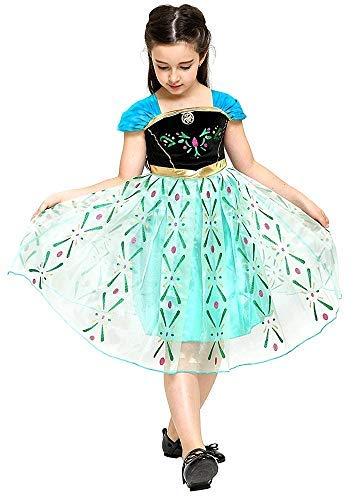 Inception Pro Infinite Disfraz - Carnaval - Halloween - Anna - nia - Color verde - Frozen - Talla 120 - 4 - 5 aos - Idea regalo original