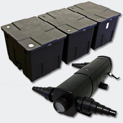 Kit SunSun de Filtration de Bassin Bio Filtre 90000l Stérilisateur UVC 24W