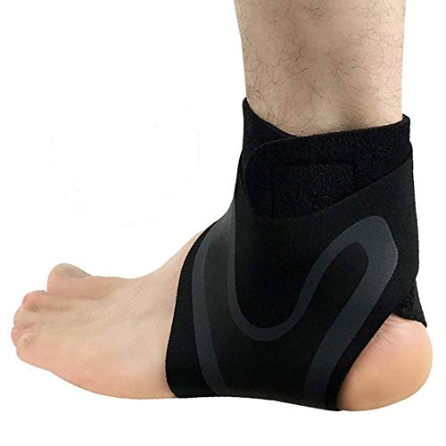 1 par de tobillo de compresión de neopreno transpirable tobillera para hombres y mujeres, manga elástica de esguince para protección deportiva, artritis, fascitis plantar