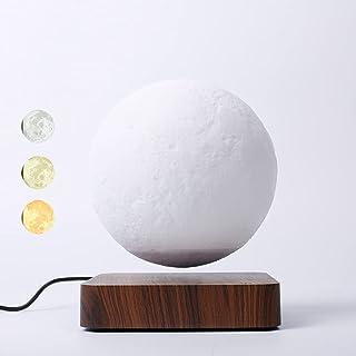 ZJING Lampe De Lune À Lévitation De 5,5 Pouces, Veilleuse De Lune À LED 3D, Lampe De Lune À Gradation De Couleurs (Lampe D...