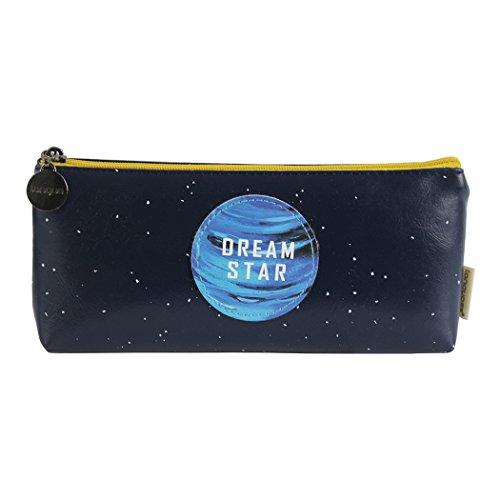 Hillento el nuevo planeta sueño creativo - caja de lápices con forma de barco - azul oscuro