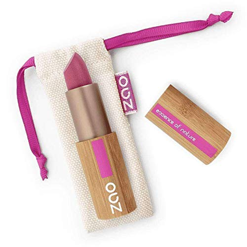 ZAO Matt Lipstick 470 violett seidenmatt, Lippenstift in nachfüllbarer Bambus-Hülse (bio, vegan)...