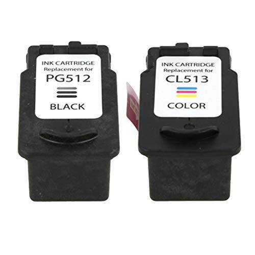 Compatible PG512 CL513 Cartuchos de tinta de reemplazo, para Canon MP240 MP250 MP260 MP270 impresora 1* set