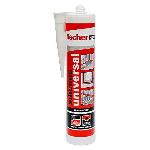 fischer – Silicona Universal Trans (tubo de 300 ml) multifunción, adherencia en multitud de materiales de construcción, para juntas que están en contacto frecuente con el agua