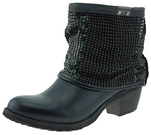 BUNKER 123544 Stiefeletten Ankle Boots anthrazit grau, Groesse:36.0