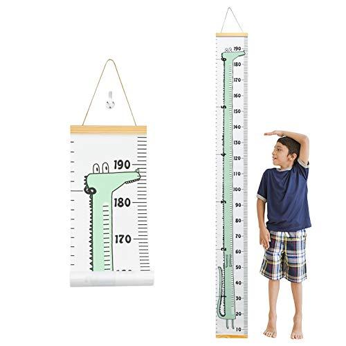 HENTEK Messlatte Kinder Wachstum Messlatte Höhe Wachstum Diagramm Kinderwachstumstabelle Aufrollbare Messleiter Lineal Messleiste für Baby Kinderziemmer Dekoration 200cm x 20cm