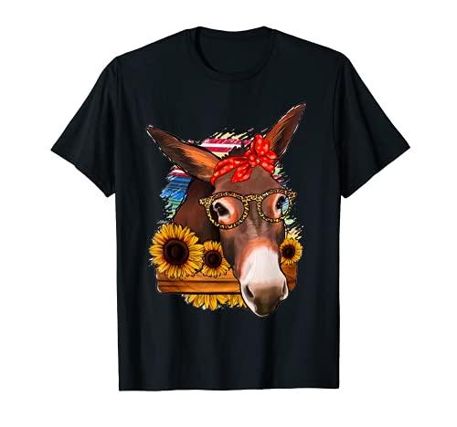 Mexicano Serape Gafas Burro Mamá Occidental Rodeo Vaquera Chica Camiseta