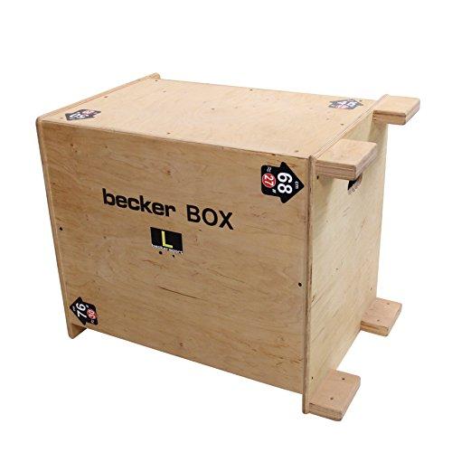Becker-Sport Germany Becker Box L Weltneuheit, 6 in 1 Box, (BSG 28954) einzigartige Plyo Box mit 6 Sprunghöhen