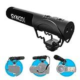 SYNCO Mic M3 Micrófono-Cámara-Reflex-DSLR-Externo, Shotgun Micrófono Direccional para Camara y Móvil, Microfono Condensador Supercardioide Compatible para Canon, Sony, Nikon, Panasonic