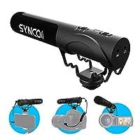 【Super-Kardioide-Mikrofon mit LED-Anzeige】Das SYNCO Mic-M3-On-Kamera-Mikrofon ist mit einem Super-Kardioide-Kondensator ausgestattet und reagiert empfindlich auf den Frontton und sorgt für hohe Klarheit und hochwertige Tonaufzeichnung auch in lauten ...