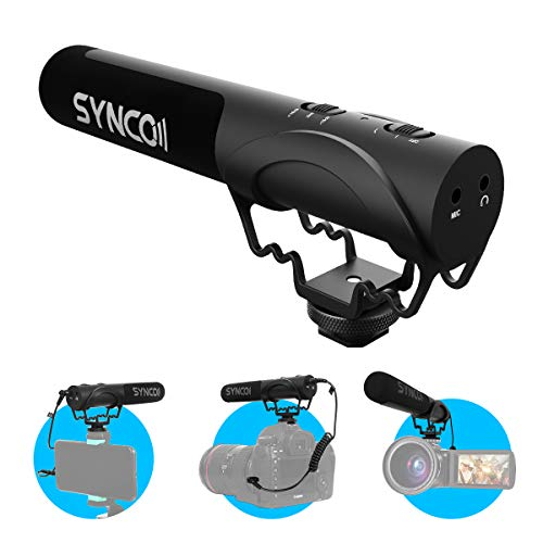 SYNCO Mic M3 Micrófono-Cámara-Reflex-DSLR-Externo, Shotgun...