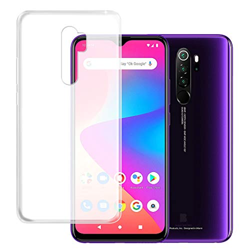 """HHUAN Case for BLU G90 Pro, Semi-Transparent Soft Silicone TPU Shock Absorption Phone Case Bumper Protective Shell Cover for BLU G90 Pro (6.5"""") - Clear"""