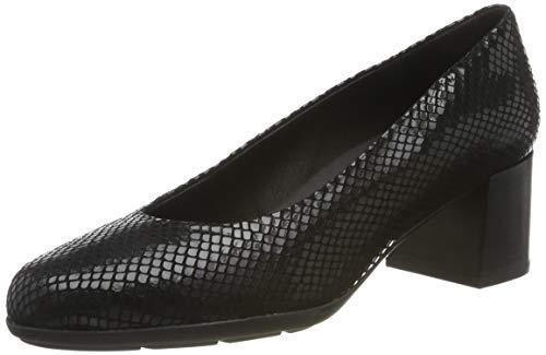 Geox D New ANNYA Mid A, Zapatos de Tacón Mujer, Negro (Black C9999), 39 EU