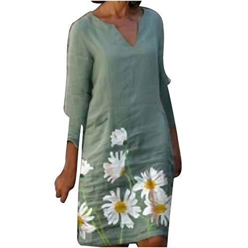 OWildeL Vestido de mujer con espalda descubierta, vintage, cintura alta, hombros descubiertos, monocolor, para tiempo libre, falda plisada verde menta S