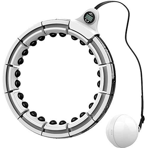 Hoola Circle Smart Count para adultos, anillo de fitness Hola para principiantes, no se caiga, material ABS desmontable, anillo de masaje y yoga