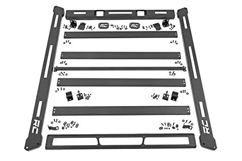 Rough Country Roof Rack System (fits) 2007-2018 Jeep Wrangler JK | Steel | 250 lb Rating | Modular | 10605