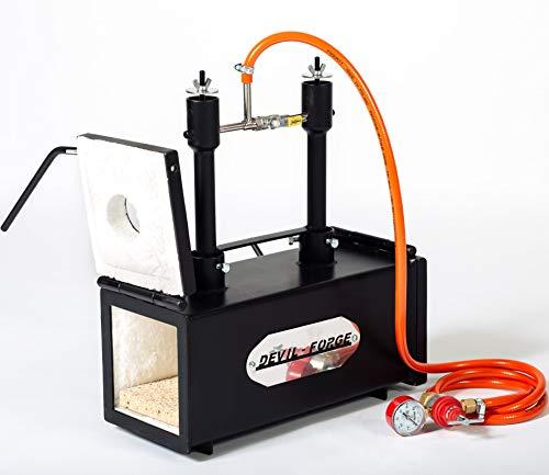 Forja de gas propano, fabricación de cuchillos, Herrero, horno, quemador | DFPROF2+2D | Gas Propane Forge