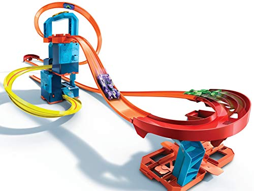 Hot Wheels Motorized Track Builder with Ultra Stackable Booster Kit