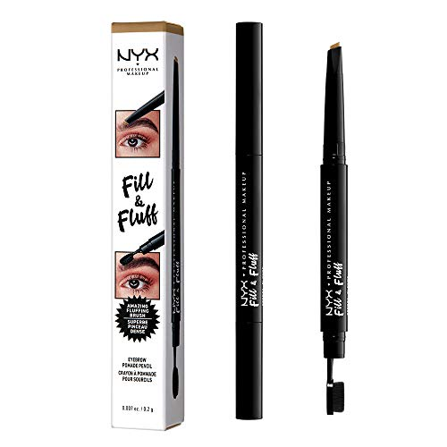 NYX PROFESSIONAL MAKEUP Fill & Fluff Eyebrow Pomade Pencil, Blonde