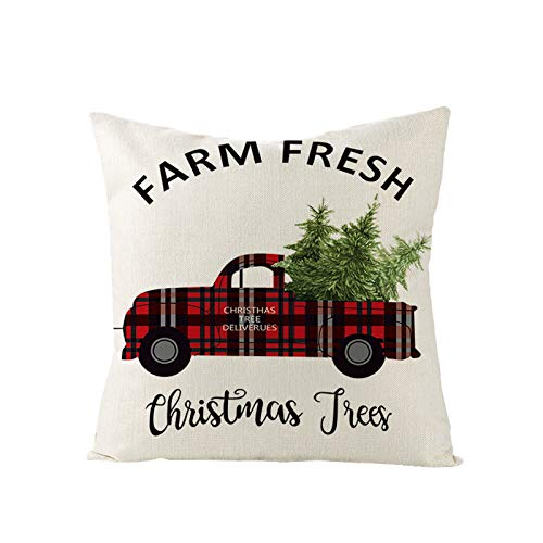 Sonojie Christmas Printed Pillowcase 1Pc (Pillow Core Not Included), Decorative Pillowcase Sofa Chair Living Room Bedroom Cushion Cover Christmas Party Supplies, 18'X18', 45X45Cm