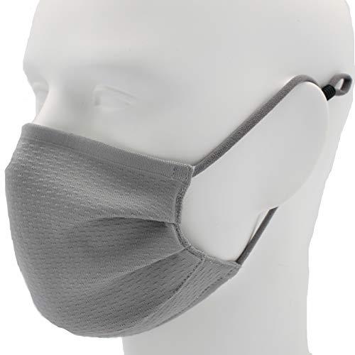 【銀のチカラ】洗える 抗ウィルスマスク (グレー, ふつうサイズ)