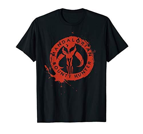 Star Wars The Mandalorian Bounty Hunter Stamp T-Shirt